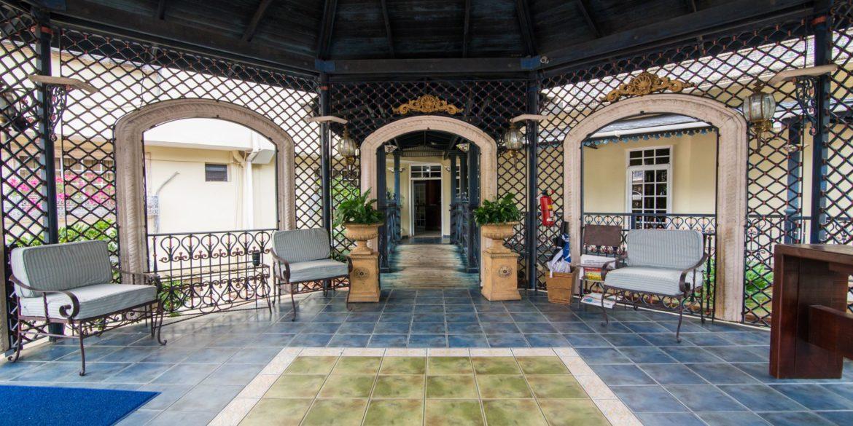 Hotel entrance at the Platino Hotel & Casino